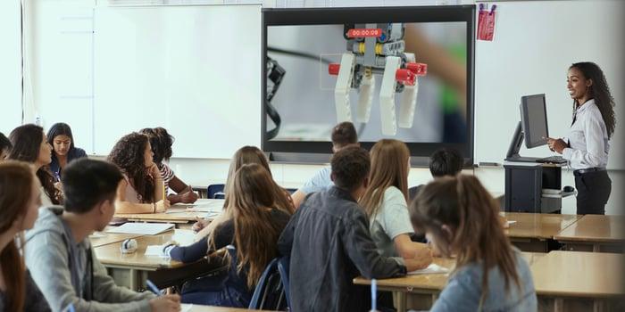 Classroom screen mirroring document camera