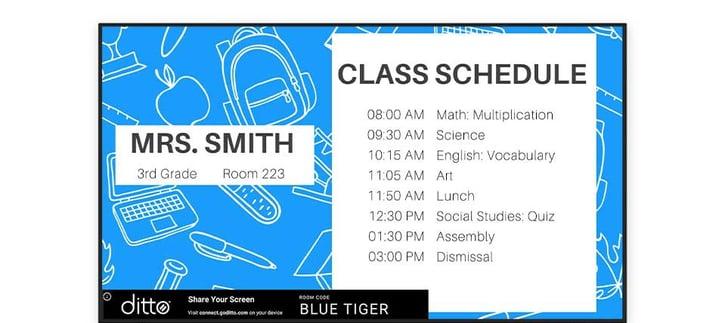 class schedule signage