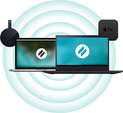 Chromecast, MacBook, PC and Apple TV