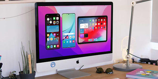Reflector screen mirroring iPhone, iPad and Android devices