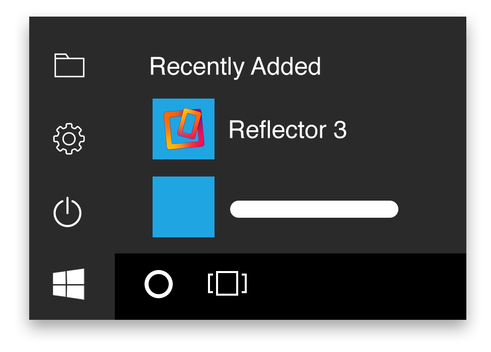Open Reflector 3 from the Start Menu