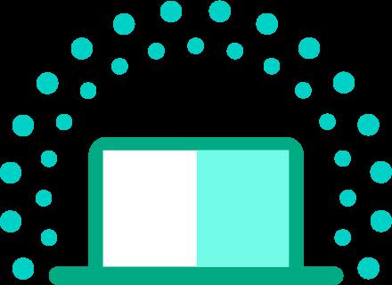 laptop icon dots