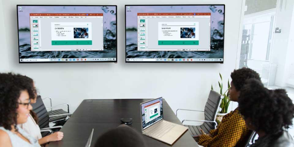 Wirelessly Screen Mirror A Windows Pc, How To Mirror Two Tvs Wirelessly